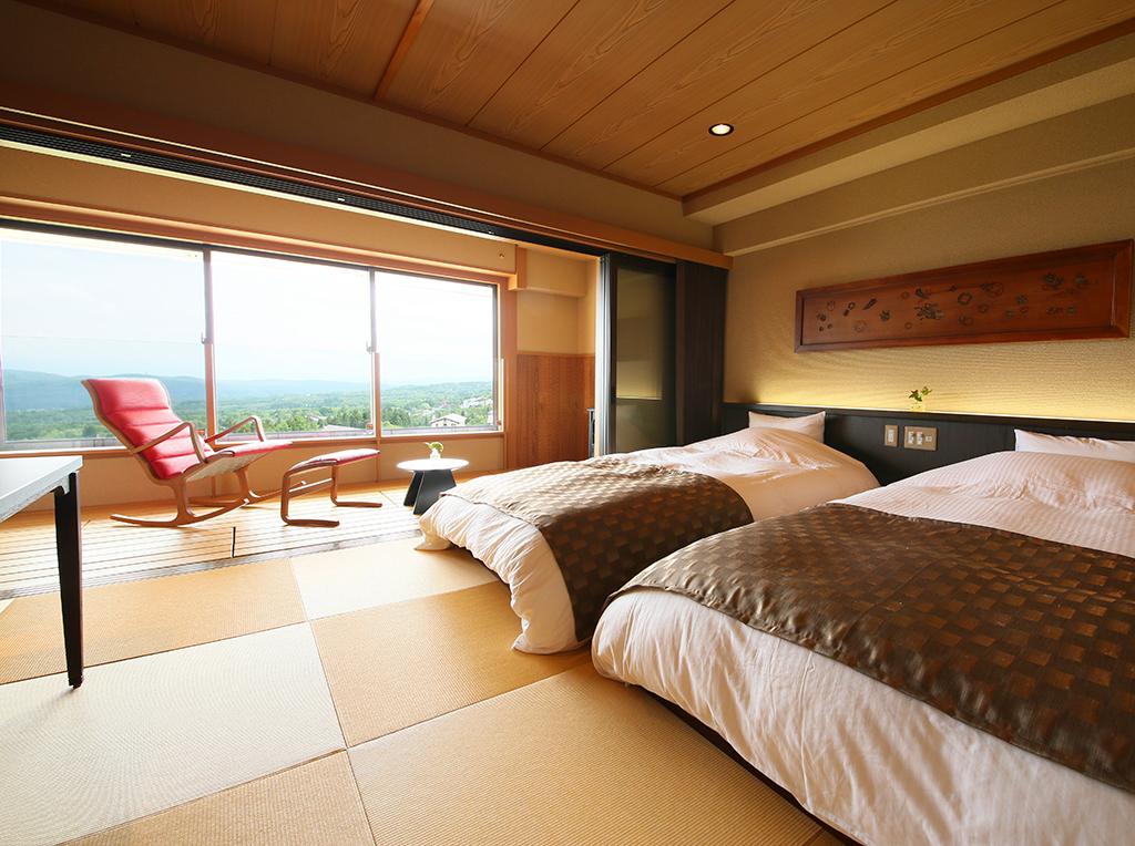 ホテル太閤 Relax Time 寛ぐ 凛とした雰囲気の中に寛ぎ空間が広がります。妙高山の美しい景色を眺めながら、ゆったりと休日をお過ごし下さい。